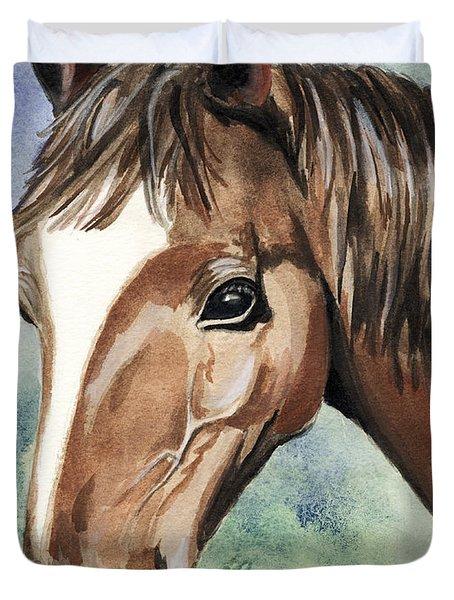 Horse In Love Duvet Cover