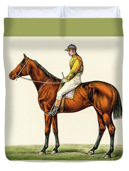 Horse Jockey Duvet Cover