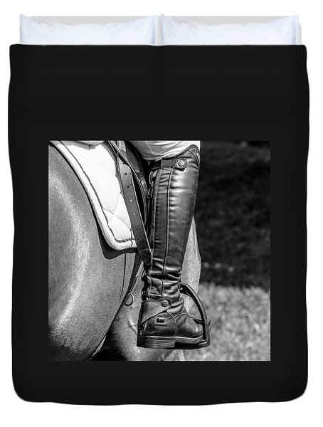 Duvet Cover featuring the photograph Horse Jumping 2 by Roy McPeak