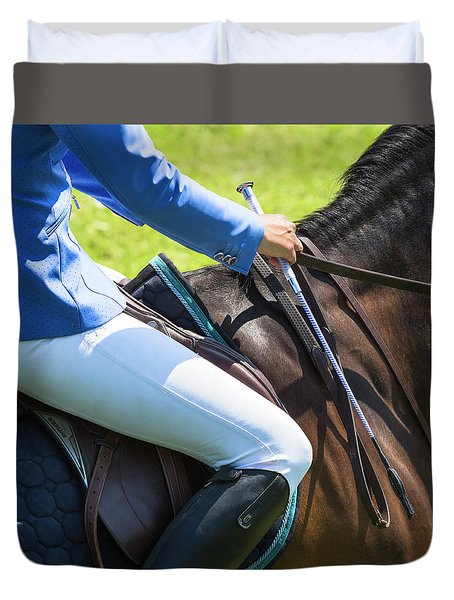 Duvet Cover featuring the photograph Horse Jumping 3 by Roy McPeak