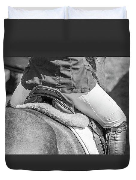 Duvet Cover featuring the photograph Horse Jumping  by Roy McPeak