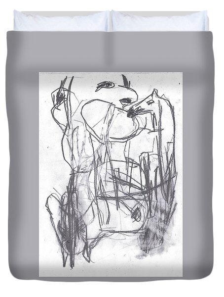 Horse Kiss Duvet Cover