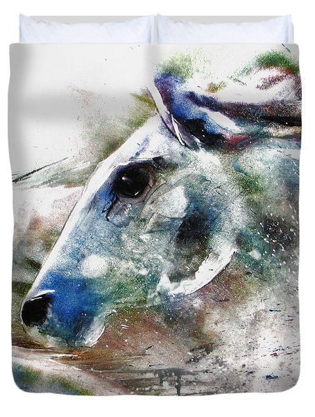 Horse Of Color Duvet Cover