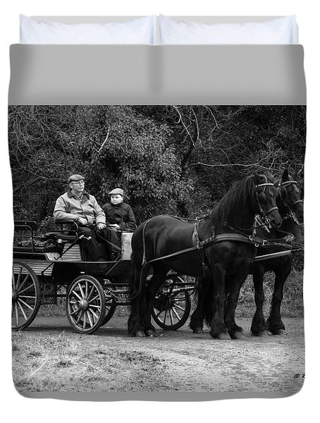 Duvet Cover featuring the photograph Horse Power by Roy McPeak