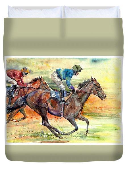 Horse Races Duvet Cover