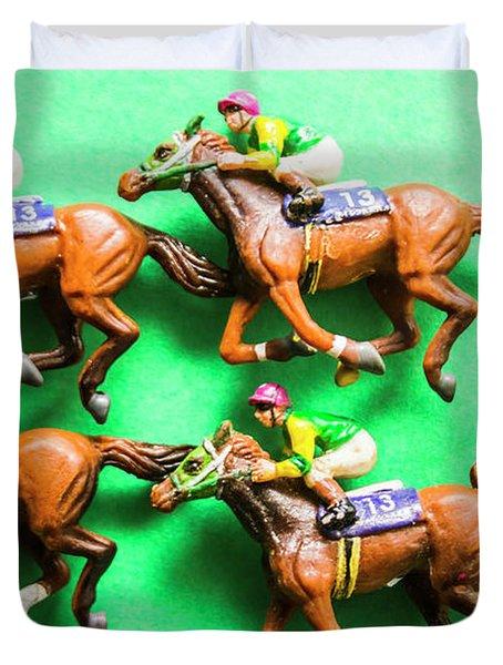 Horse Racing Carnival Duvet Cover