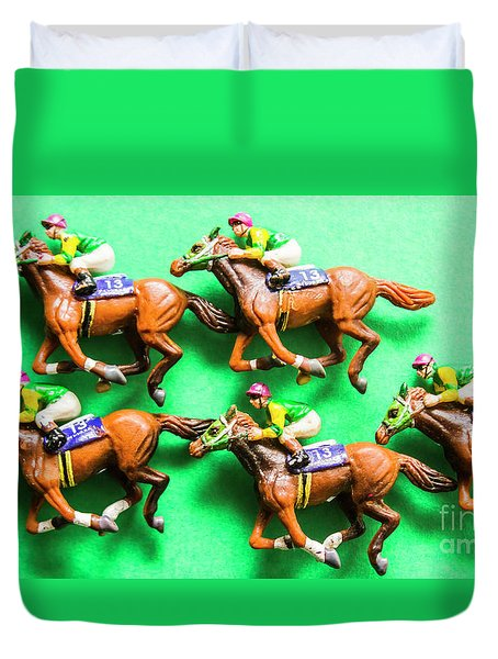 Horse Racing Carnival Duvet Cover