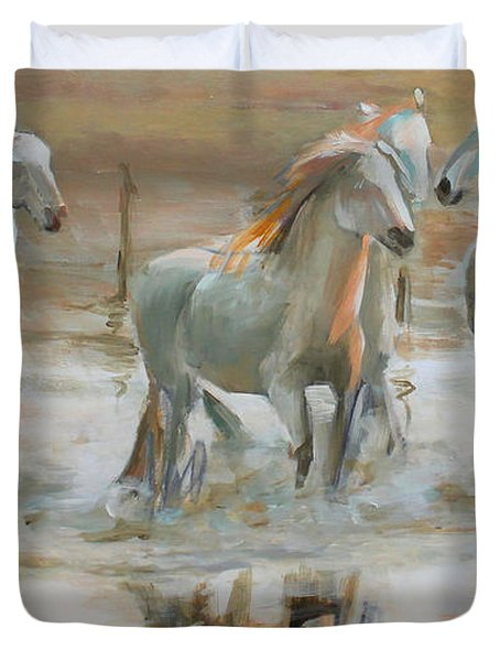 Horse Reflection Duvet Cover