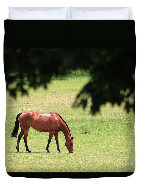 Horse Riverhead New York Duvet Cover