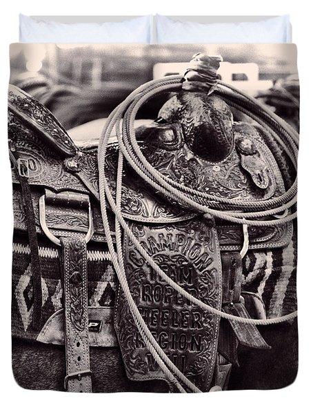 Horse Saddle Duvet Cover