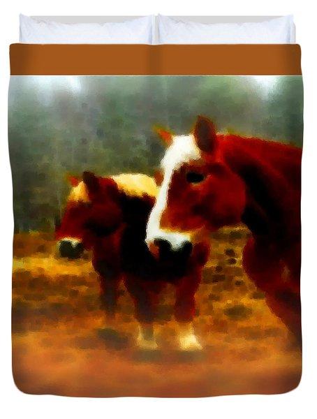 Horse Scents-maine Duvet Cover