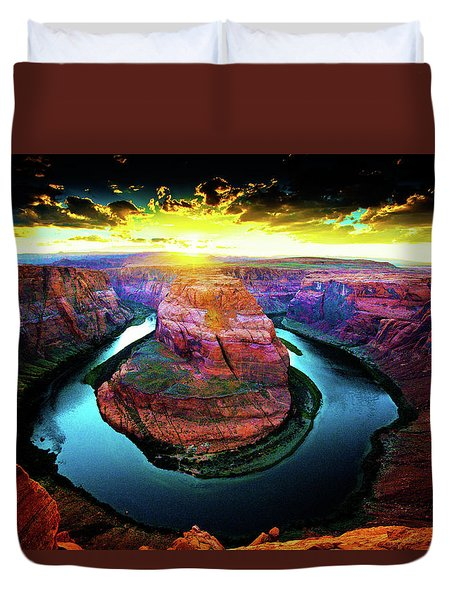 Horse Shoe Bend Duvet Cover