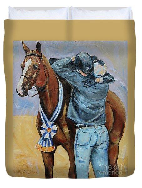 Horse Show Art, Equitation Champion Duvet Cover