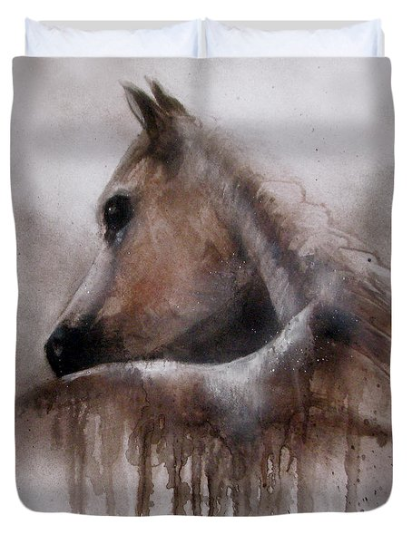 Horse Shy Duvet Cover