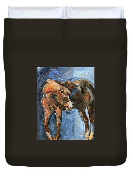 Horse Study In Oil  Duvet Cover