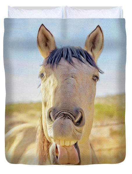 Horse Talk #2  Duvet Cover