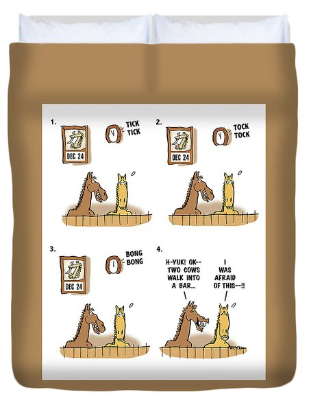 Horse Talk Duvet Cover