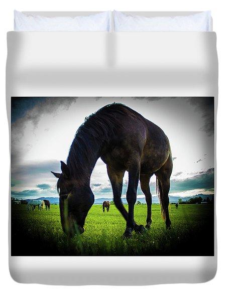 Horse Time Duvet Cover