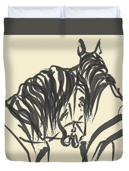 Horse - Together 9 Duvet Cover