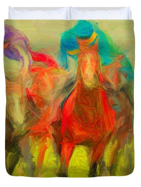 Horse Tracking Duvet Cover
