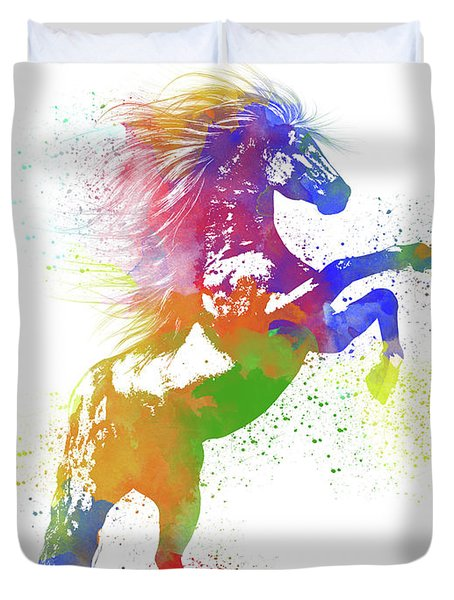 Horse Watercolor 1 Duvet Cover