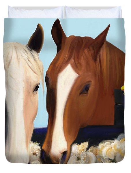 Horse Whispers  Duvet Cover