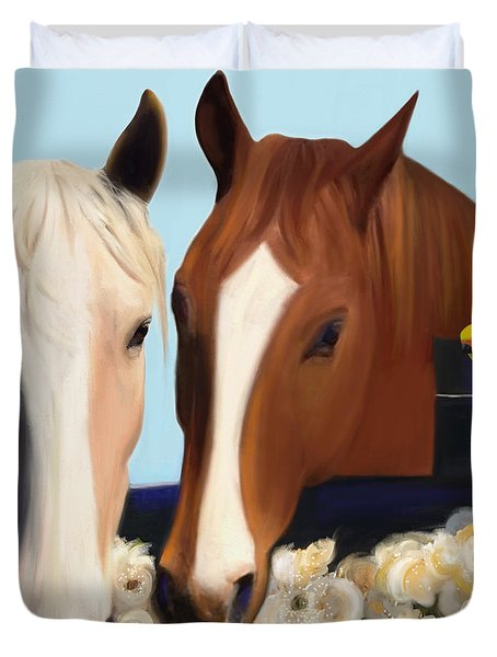 Horse Whispers  Duvet Cover