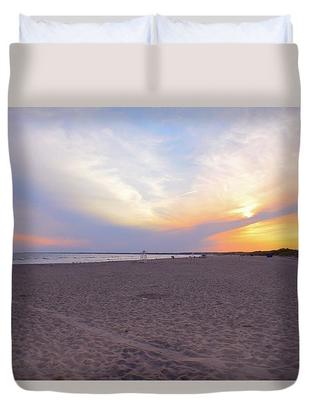 Horseback Beach  Duvet Cover