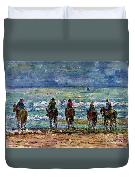 Horseback Beach Memories Duvet Cover