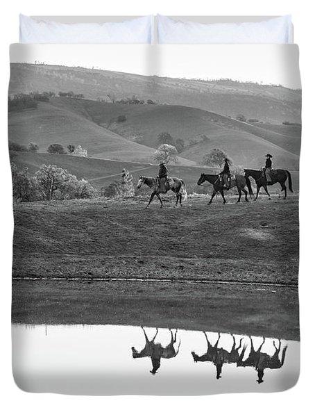 Horseback Landscape Duvet Cover