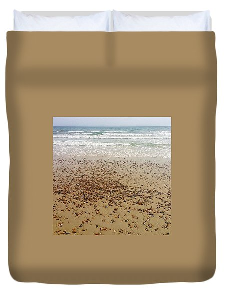 A Rocky Shoreline  Duvet Cover