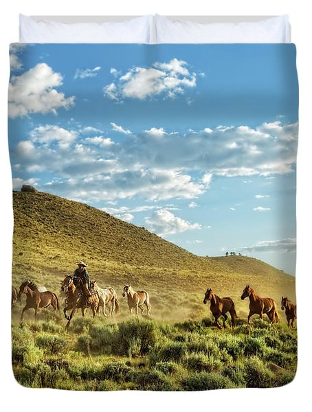 Horses And More Horses Duvet Cover