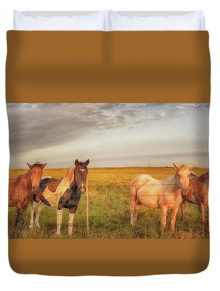 Horses At Kalae Duvet Cover