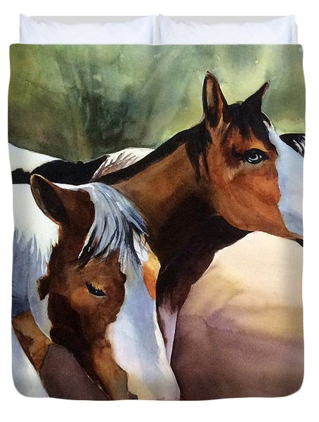 Horses At The Ranch Duvet Cover