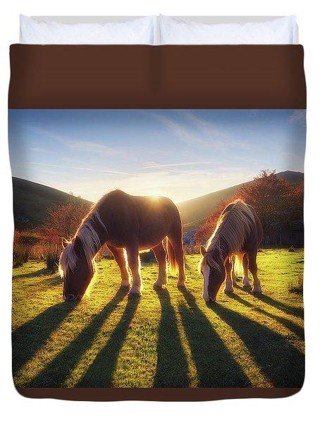 Horses In Austigarmin Duvet Cover
