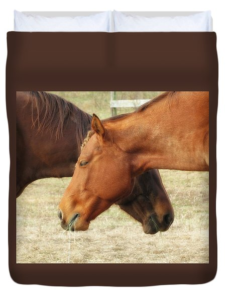 Horses In Sinc Duvet Cover by MTBobbins Photography