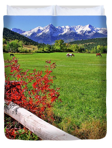 Horses In The San Juans Duvet Cover