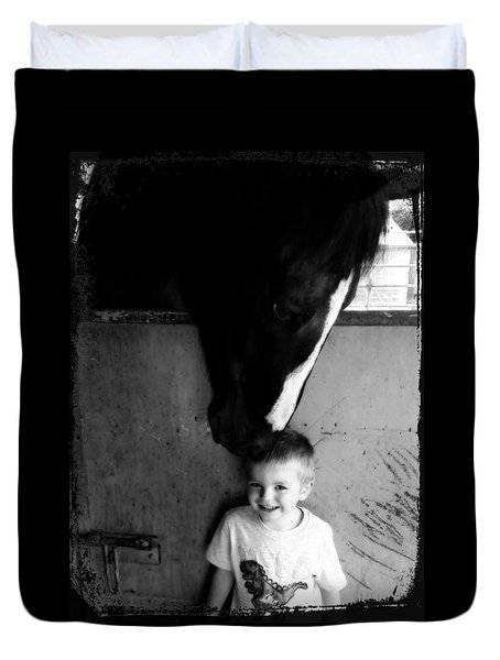 Horses Love Duvet Cover