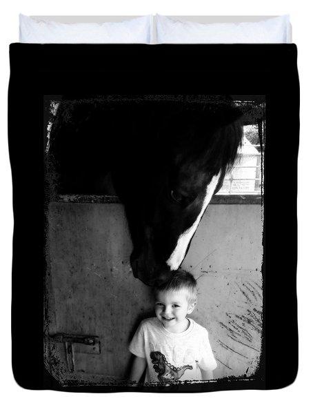 Horses Love Duvet Cover by Amanda Eberly-Kudamik