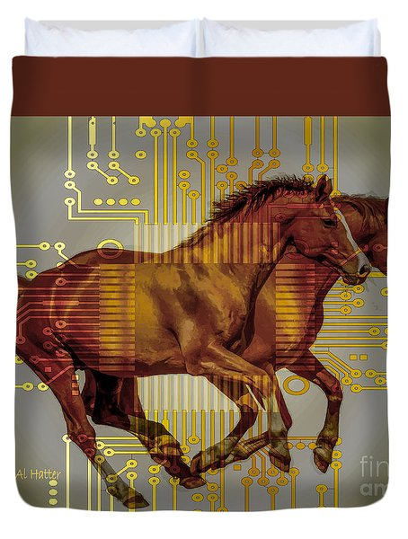 The Sound Of The Horses. Duvet Cover