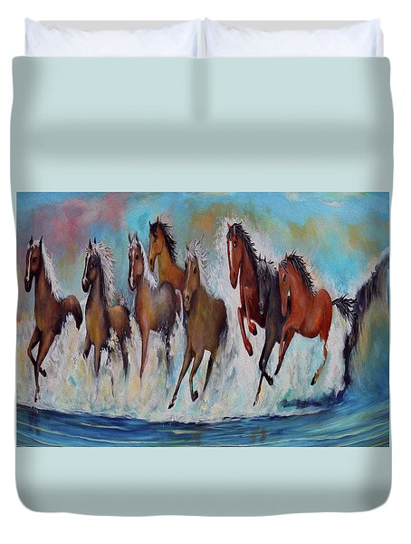 Horses Of Success Duvet Cover