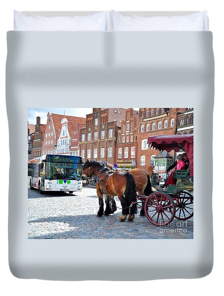 Horses On Tour Duvet Cover