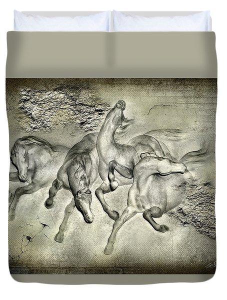Horses Duvet Cover by Svetlana Sewell