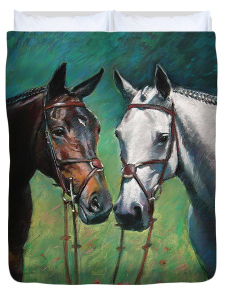 Horses Duvet Cover by Ylli Haruni
