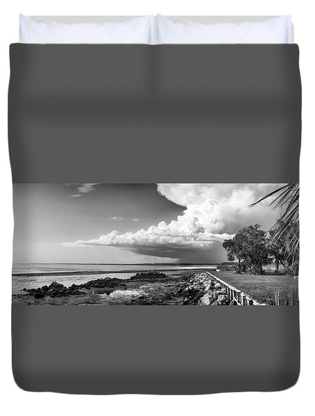 Duvet Cover featuring the photograph Horseshoe Beach by Howard Salmon