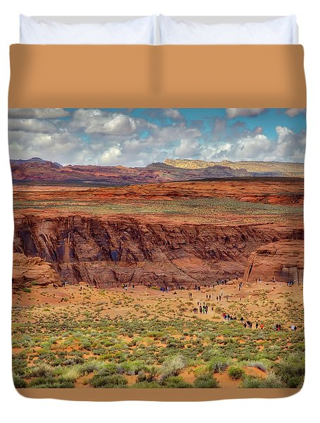 Horseshoe Bend Arizona #2 Duvet Cover by Jennifer Rondinelli Reilly - Fine Art Photography