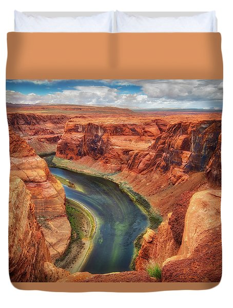 Horseshoe Bend Arizona - Colorado River #2 Duvet Cover by Jennifer Rondinelli Reilly - Fine Art Photography