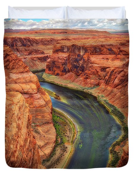 Duvet Cover featuring the photograph Horseshoe Bend Arizona - Colorado River #3 by Jennifer Rondinelli Reilly - Fine Art Photography