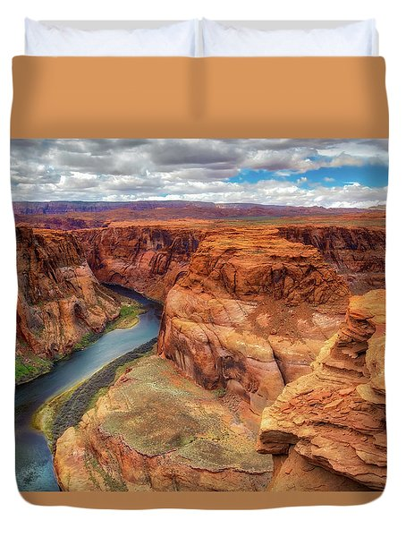 Horseshoe Bend Arizona - Colorado River $4 Duvet Cover by Jennifer Rondinelli Reilly - Fine Art Photography