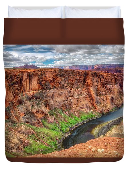 Horseshoe Bend Arizona - Colorado River #5 Duvet Cover by Jennifer Rondinelli Reilly - Fine Art Photography